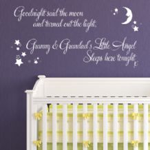 Personalised Grandparents Goodnight Said the Moon  ~ Wall sticker / decals